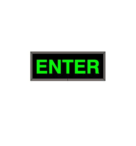 LED Backlit ENTER Sign   LED ENTER Sign