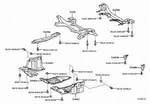 2001 Toyota Celica Suspension Subframe Crossmember  Rear