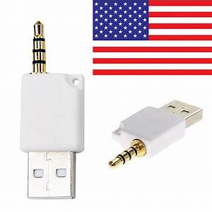 Usb To 3 5mm Jack Plug Data Charge Sync Cable For Apple