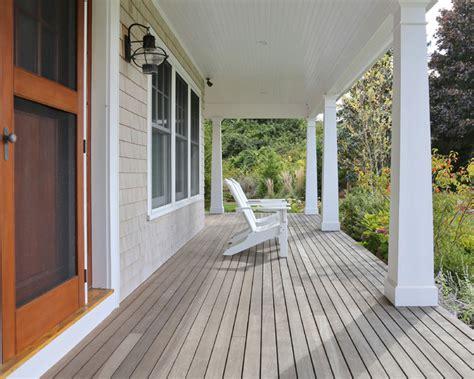 porch column wraps cape cod home farmhouse porch boston by encore