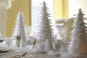 Christmas Decorations :: White Feather Table - Wenderly