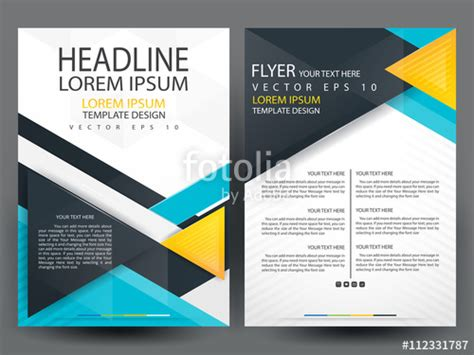 Vector Brochure Template A4 Format Layout Home Page And Quot Business Brochure Cover Design Brochure Template Layout