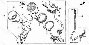 Honda Motorcycle 2004 Oem Parts Diagram For Speedometer