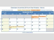 calendario noviembre 2018 para imprimir Eczasolinfco