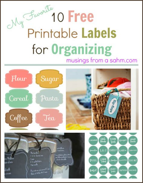 printable labels  organizing musings
