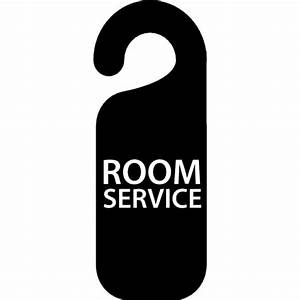 Room service signal for hotel doors Icons | Free Download