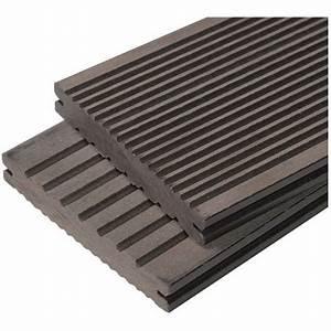 Lame Terrasse Composite : lame terrasse bois composite plein maxima l 360 cm l 14 ~ Premium-room.com Idées de Décoration