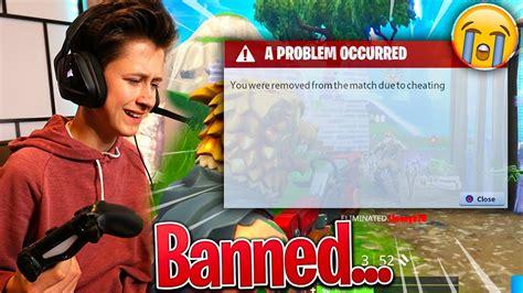 kid  banned  cheating  fortnite battle royale