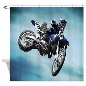 dirt bike jump shower curtain by coolbedding With kitchen colors with white cabinets with stickers for dirt bikes