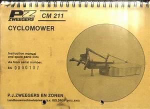 Pz Zweegers Cm211 Cyclomower Mower Operators  U0026 Parts Manual