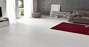 parquet blanc selection leroy merlin castorama saint With parquet flottant blanc brillant