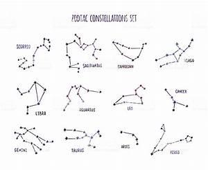 Sternzeichen Stier Monat : durchgehender sternzeichen sternbild zeichenset gemacht aus sternen und linien stock vektor art ~ Markanthonyermac.com Haus und Dekorationen