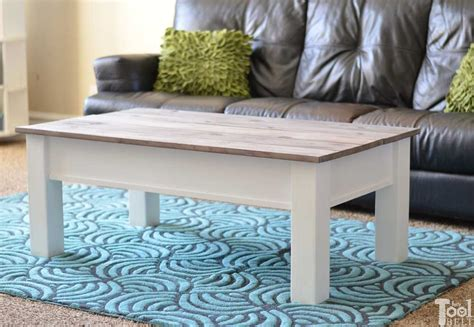 Building your own diy coffee table is such a great way to try your hand at making your own. Farmhouse Coffee Table with Hidden Storage - Her Tool Belt