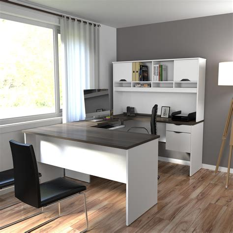 bestar innova u shaped workstation kit tuscany brown and