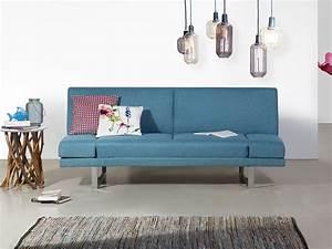 canape convertible tapissier canape lit en tissu bleu With canapé lit bleu marine