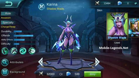 karina mobile legends minecraft skin