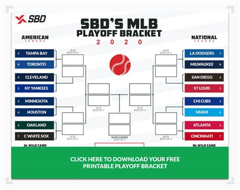 printable  mlb playoff bracket fill   picks