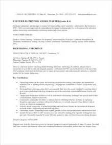 resume exles for high teachers teacher sle resume fastweb