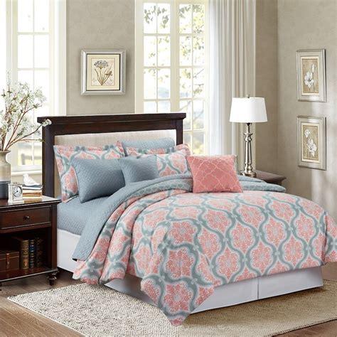 marina coral medallion  piece comforter set  bedroom