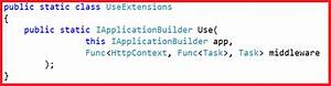 configuring middleware components in asp net dot