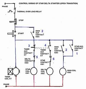 Electrical And Elecrtonic World  How To Set Relay In Star Delta Starter
