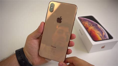 apple iphone xs max gold 256gb unboxing on