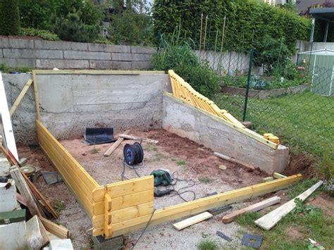 gartenhaus fundament bauen aussenanlagen hausbau ein baublog