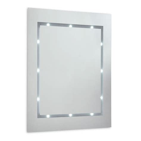 Battery Operated Bathroom Mirrors by Contemporary Battery Operated Illuminated Cool White Led