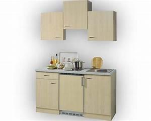 Singleküche 150 Cm : singlek che levanzo birke dekor 150 cm inkl einbauger te kaufen bei ~ Watch28wear.com Haus und Dekorationen