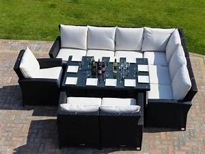 panama rattan garden dining set oceans outdoor furniture With outdoor corner sectional sofa