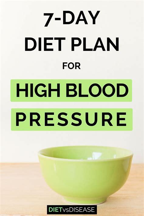 day diet plan  high blood pressure dietitian