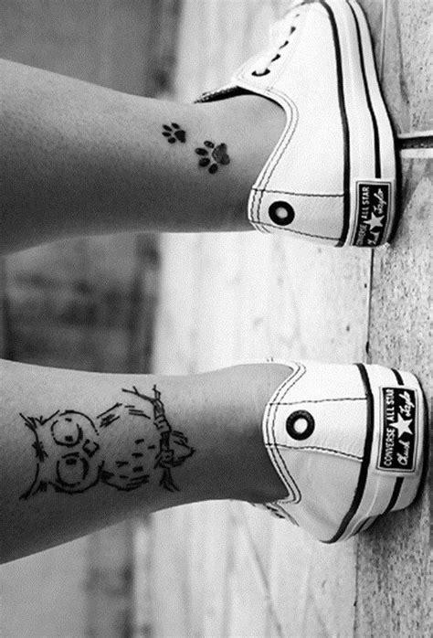 Illustrated Linework Owl Ankle Tattoo | Amazing Tattoo Ideas