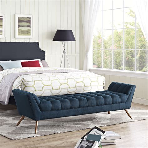 response upholstered bedroom bench wayfair