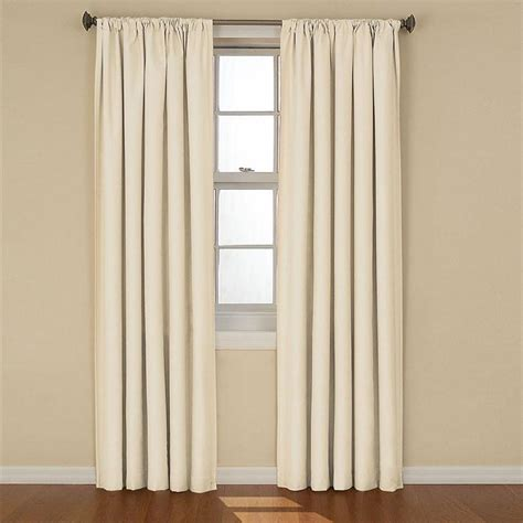 1pair bedroom curtains black window shades eyelets