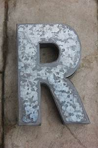 large metal letter zinc steel initial home room decor diy With large steel letters