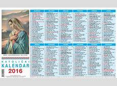 Katolički kalendar 1listovni 2016 1 Svetište MB Tekije