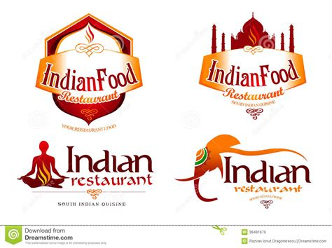 cuisine inde indian food logo royalty free stock images image 36491679