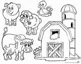 Coloring Barn Farm Pages Animals Printable Animal Bettercoloring Supercoloring sketch template