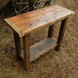 hand crafted reclaimed barnwood sofa table by echo peak With custom barnwood tables