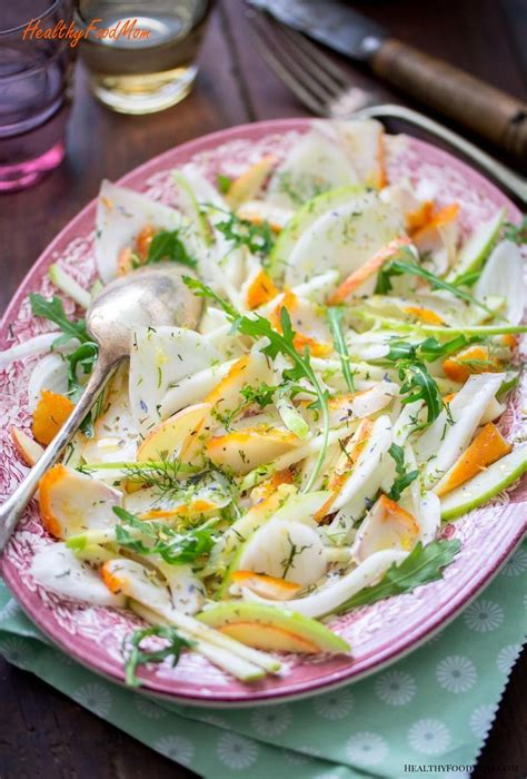 Submerge in seawater for 1 minute. Haddock salad, fennel and Granny Smith apple - Healthy Food Mom