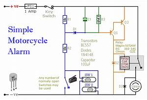 A Simple Transistor Based Motorcycle Alarm