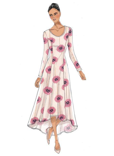 dresses for misses vogue patterns 9199 misses 39 knit fit and flare dresses