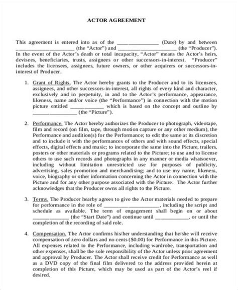 contract agreement formats word