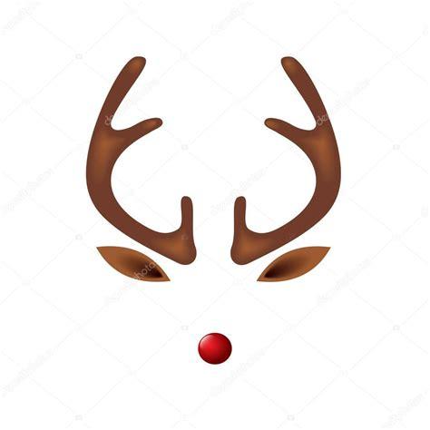 plantilla de reno reno  plantilla de nariz roja