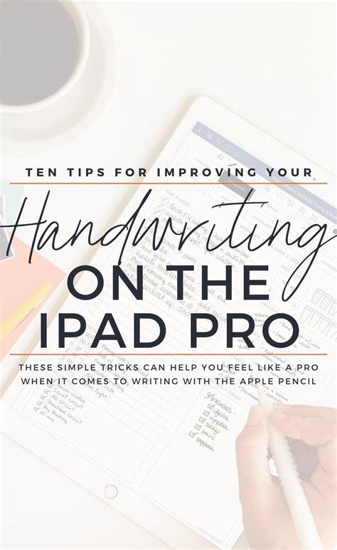 improve  handwriting   ipad pro