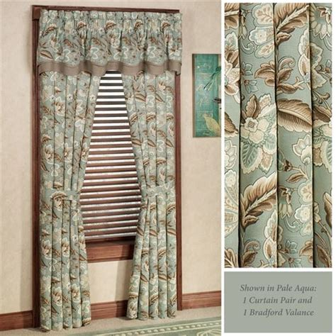 valerie jacobean floral standard length window treatment