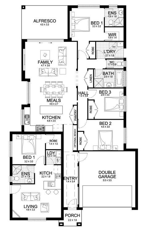 home builders newport dual  granny flats dual living home designs