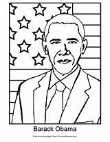 Obama Barack Coloring Presidents Printable Drawing Pdf Primarygames President Sheets Play Getdrawings Games sketch template