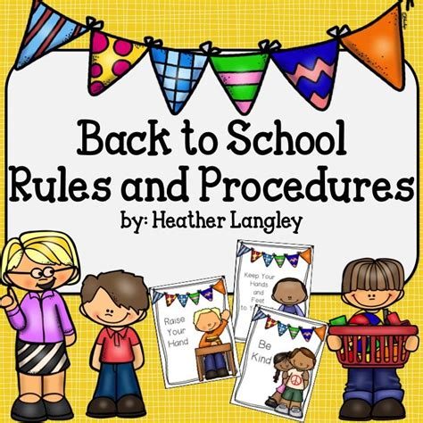 Back to School Rules and Procedures   Rules and procedures ...