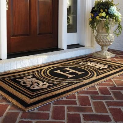 frontgate outdoor doormats wingate monogrammed entry mat frontgate